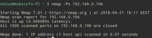 Сканирование сети с помощью nmap