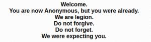 Приветствие Anonymous