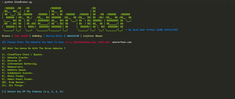 Скрипт SiteBroker \ Сканирование и защита сайта
