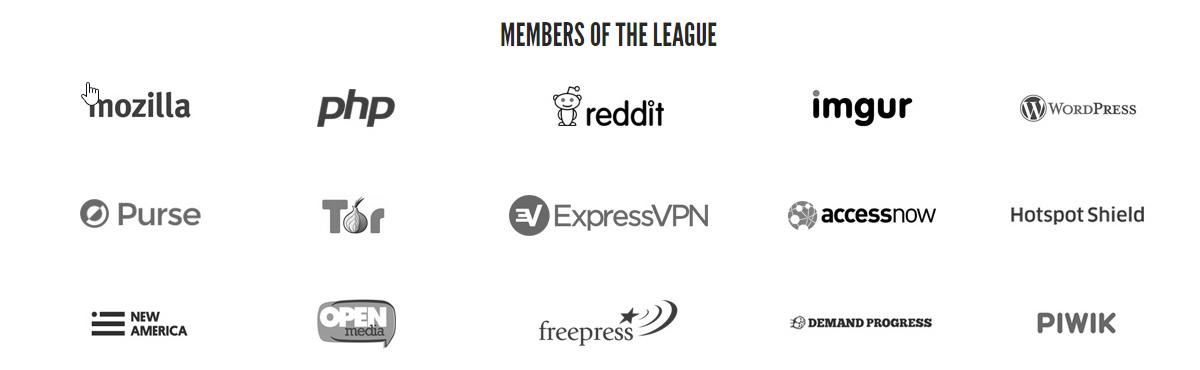 Члены Лиги Защиты Интернета