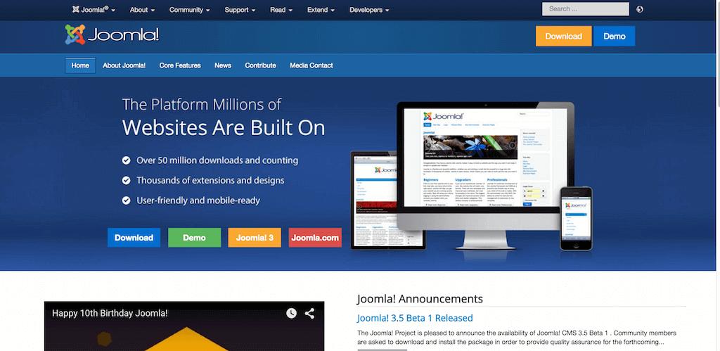 Joomla CMS для создания сайтов