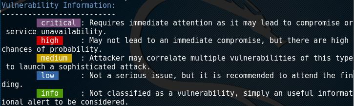 Уровни ошибок в RapidScan