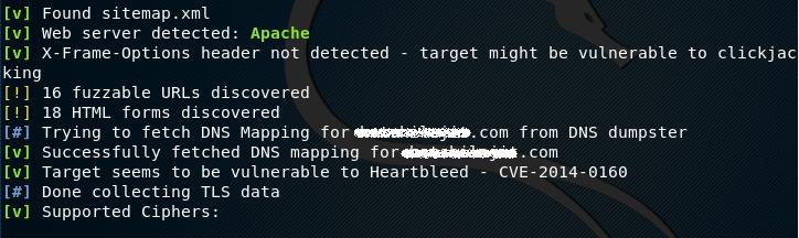 Поиск расширенной информации и возможностей атак