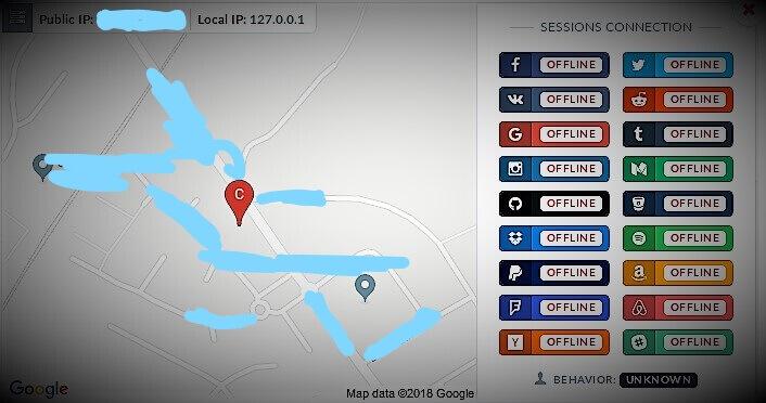 Вычисленное местоположение и IP адрес