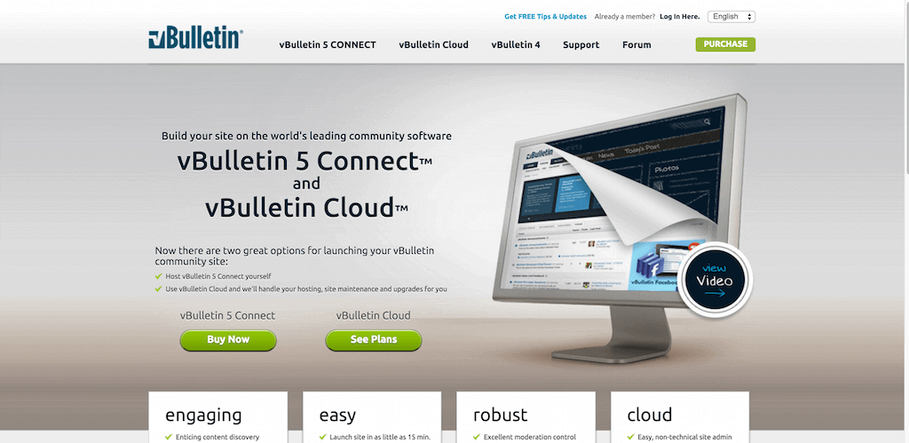 vBulletin - один из лидеров в системах управления контентом.