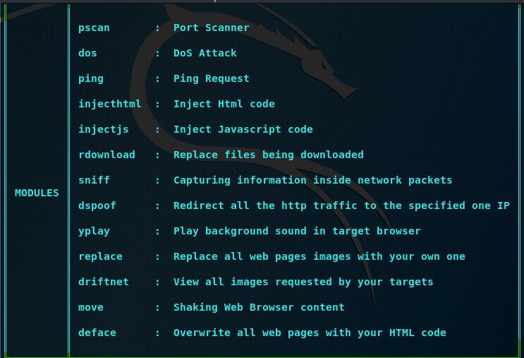 Использование Xerosploit для проведения MITM атак