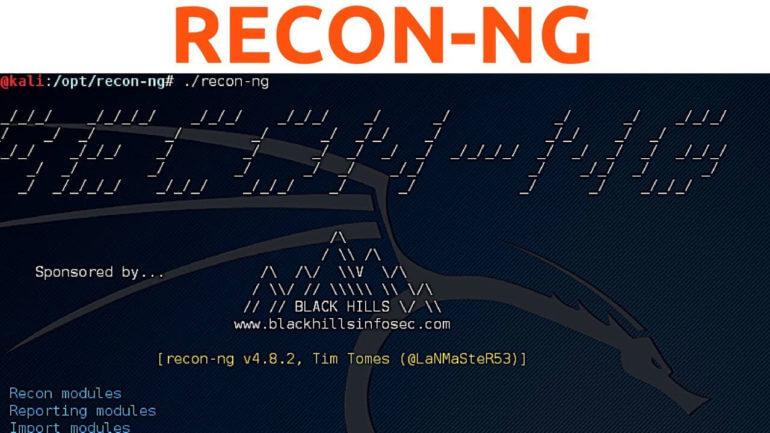Recon-ng — инструмент интеллектуальной системы отслеживания 1