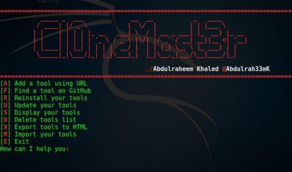 Cl0neMast3r — легкая установка инструментов для хакера