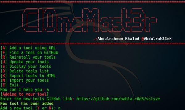 Cl0neMast3r — легкая установка инструментов для хакера 1