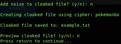 Завершение процесса кодирования файла с помощью Cloakify - фото 5