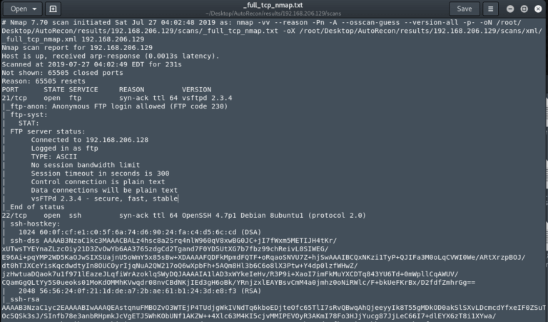 AutoRecon — многопоточный инструмент сетевой разведки