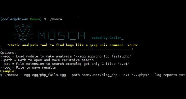 Mosca — инструмент для статического анализа и поиска ошибок(багов)