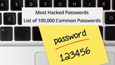 Топ 100 000 общих паролей, которые уже известны хакерам 6